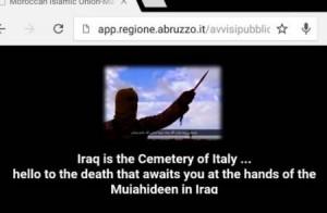 """Hacker su sito Regione Abruzzo: """"Iraq sarà cimitero Italia"""""""