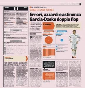 Roma sotto processo: Garcia-Dzeko doppio flop