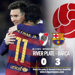 Barcellona vince Mondiale per club: 3-0 al River. Highlights