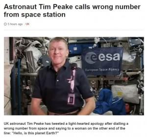 Astronauta chiama estranea dallo spazio: Parlo con la Terra?
