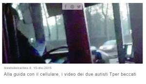 Bologna, autisti bus alla guida col cellulare...
