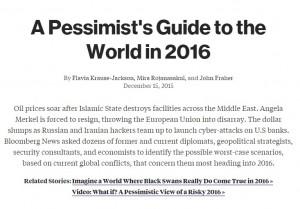 Previsioni 2016: le 10 cose peggiori che potrebbero accadere