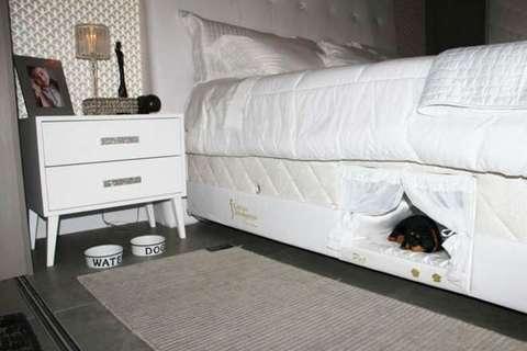 Cuccia nel materasso per dormire col proprio cane