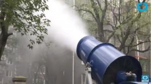 YOUTUBE Inquinamento Cina, un cannone contro lo smog...