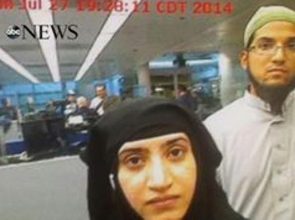 Strage San Bernardino, killer al controllo passaporti FOTO