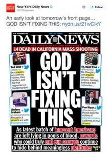 La prima pagina del Daily News