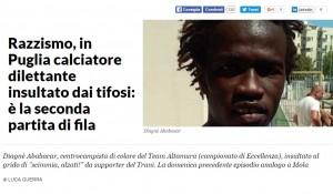 """""""Negro di m..."""": Vigor Trani squalificata per razzismo"""