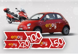 Eni enjoy christmas card, regala il car sharing a Natale