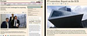 Financial Times su Bce: prima l'errore, poi le scuse...