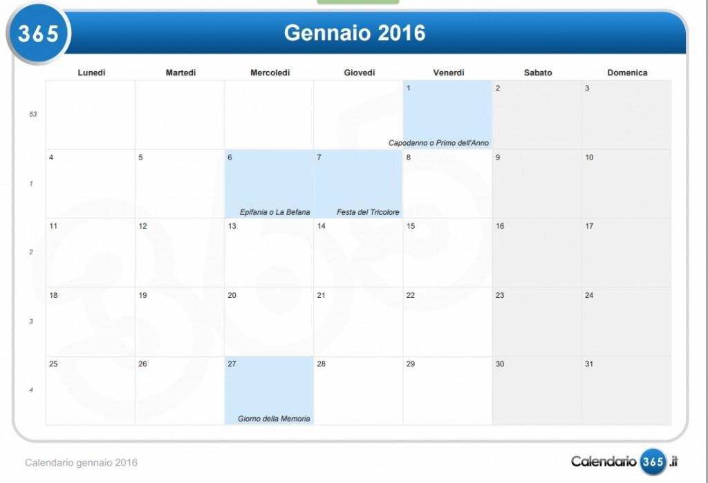 Calendario 2016: festività, Pasqua, Ferragosto. Santi e fasi lunari