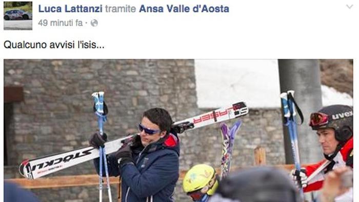 "Luca Lattanzi (FI): ""Renzi a Courmayeur? Avvisate Isis"""
