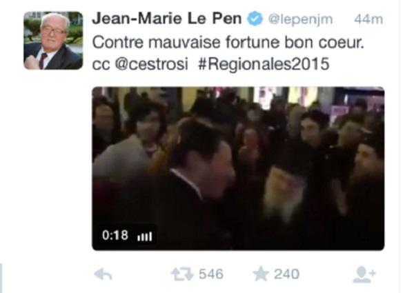 VIDEO Jean-Marie Le Pen, tweet contro gli ebrei, rimosso
