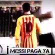 il coro dei tifosi del Valencia contro Leo Messi