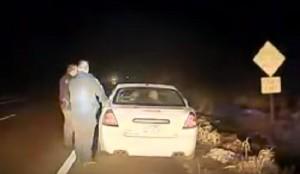 YOUTUBE Picchia e tenta di rubare la pistola a un poliziotto