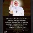 Un' immagine di Papa Francesco