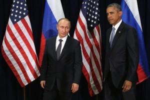 Barack Obama e Vladimir Putin (foto Ansa)