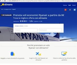 Ryanair fa causa a eDreams e Google: Pubblicità ingannevole