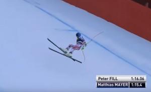 YOUTUBE Sci, Matthias Mayer caduta da brivido in Val Gardena