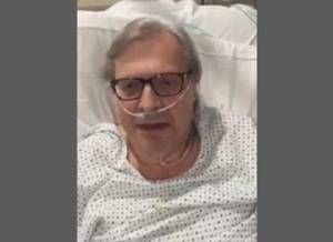 Vittorio Sgarbi in ospedale, brodo e lite con gli infermieri