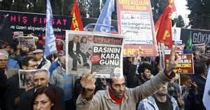 Protesta giornalisti turchi