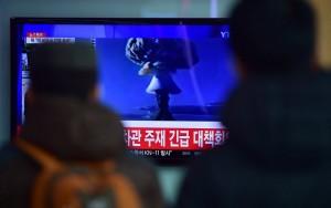 Guarda la versione ingrandita di La tv nordcoreana annuncia test con bomba all'idrogeno (foto Ansa)