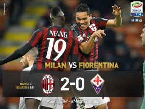 Milan-Fiorentina 2-0, pagelle-highlights: Bacca-Boateng gol
