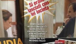 Guarda la versione ingrandita di Allegri e l'ex Claudia a cena (foto CHI)