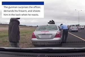 YOUTUBE Agente schiva pallottola e continua a fare la multa