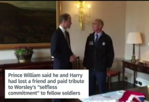 Guarda la versione ingrandita di Henry Worsley col principe William
