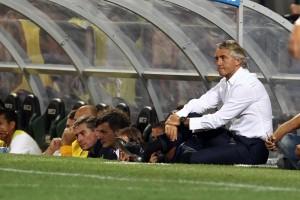 Guarda la versione ingrandita di Inter - Carpi, Mancini nella foto LaPresse