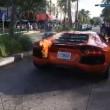 Lamborghini a fuoco parcheggiatore la stava provando5