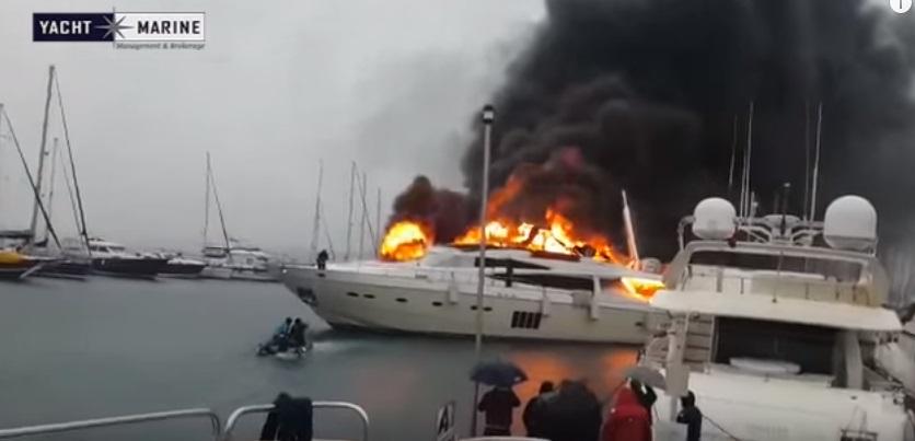Mega-Yacht da 5 milioni di euro in fumo in Turchia3