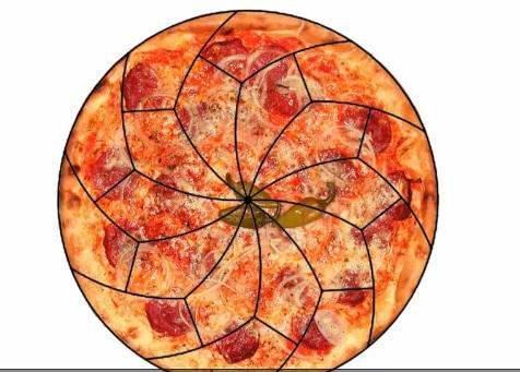Pizza in fette perfette? Ci riescono da 2 matematici3
