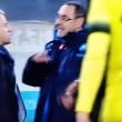Roberto Mancini e Maurizio Sarri, lo scontro in campo (foto Ansa)