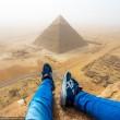 Scala Piramide di Giza a mani nude 8