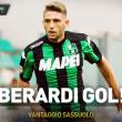 Inter-Sassuolo 0-1, highlights: Berardi gol decisivo