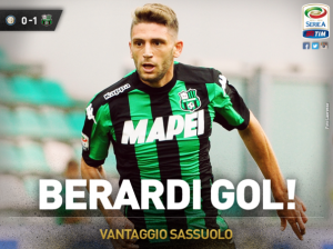 Inter-Sassuolo 0-1, highlights: Berardi gol decisivo