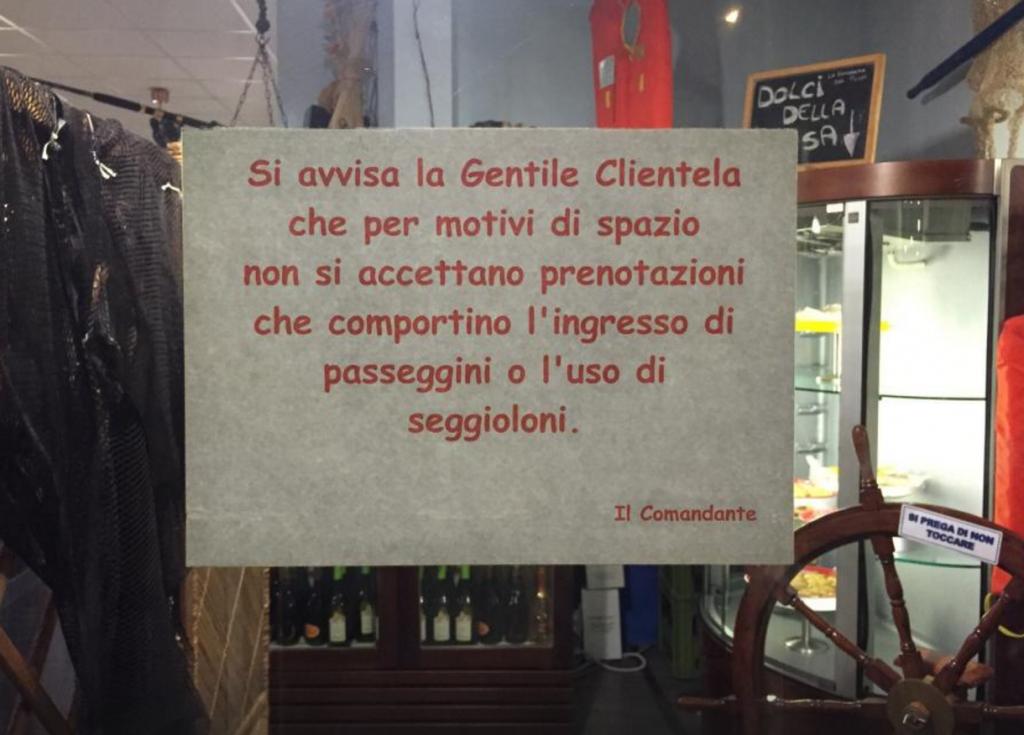 """Ristorante di Roma: """"Vietato l'ingresso ai bambini"""" FOTO 3"""