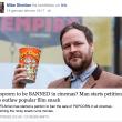 """YOUTUBE """"Vietare i popcorn al cinema"""": la petizione online 3"""