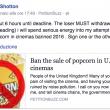 """YOUTUBE """"Vietare i popcorn al cinema"""": la petizione online 4"""