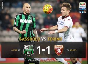 Guarda la versione ingrandita di Sassuolo-Torino 1-1, foto LaPresse