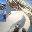 Snowboarder provoca valanga e la riprende con GoPro7