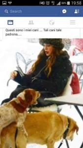 Alba Parietti e la gaffe sulla FOTO dei cani che si montano