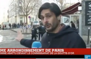 YOUTUBE Parigi, arrestato in strada in diretta tv