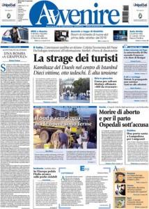 Guarda la versione ingrandita di Attentato Istanbul, prezzo petrolio: prime pagine giornali