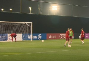 Lo stravagante allenamento del Bayern Monaco