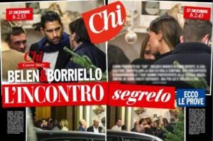"""Guarda la versione ingrandita di Marco Borriello, Belen Rodriguez e la """"foto falsa""""…"""