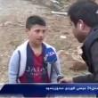 Il bimbo con la maglia di messi intervistato dalla tv del Kurdistan