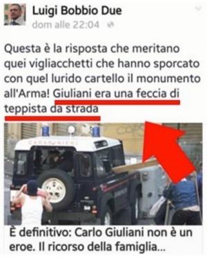 """Carlo Giuliani """"feccia di strada"""": giudice Bobbio condannato"""