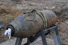 Una bomba della Seconda Guerra Mondiale